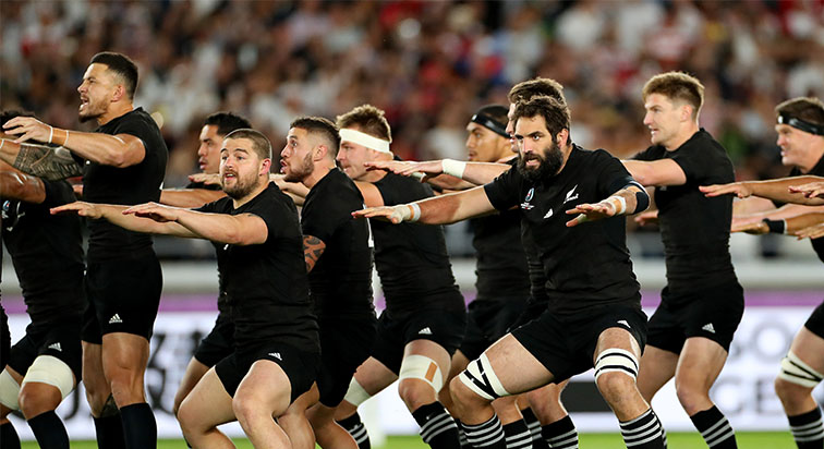 New Zealand doing the haka